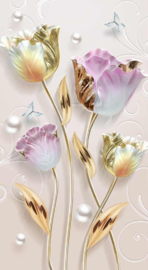 Diamond painting prachtige bloemen (60x30cm)(full)