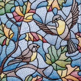 Diamond painting gekleurde vogels (50x50cm)(full)(ronde steentjes)