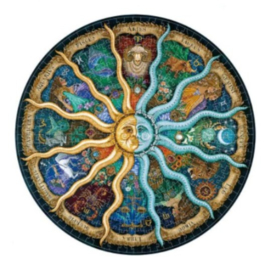 Houten puzzel 3D 12 horoscopen A3