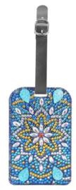 Diamond painting koffer labels (bloem)