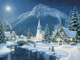 Diamond painting winters landschap (60x45cm)(full)