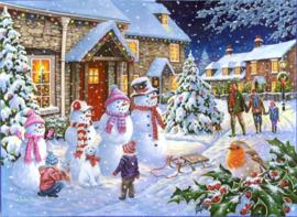 Diamond painting sneeuw plaatje (65x45cm)(full)