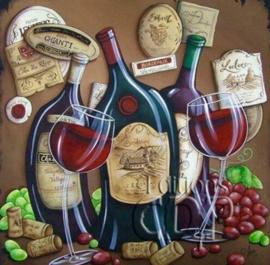 Diamond painting wine wine wine (50x50cm)(full)