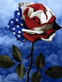Diamond painting USA roos (50x40cm)(full)