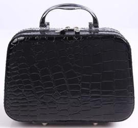 Prachtige koffer met 22 opbergdoosjes (zwart)