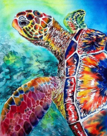 Diamond painting schildpad (50x40cm)(full)