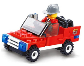 Diamond blocks brandweer wagen