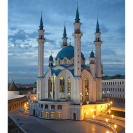 Diamond painting moskee (60x45cm)(full)