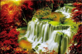 Diamond painting prachtige watervallen (60x48cm)(full)