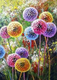 Diamond painting fleurige wensbloemen (60x45cm)(full)