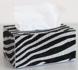 Diamond painting tissue  box zwart/wit golf (zelf nog te painten)