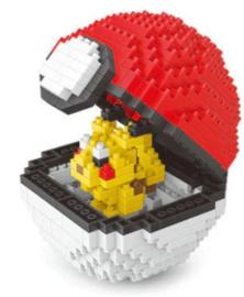 Diamond blocks pokebal met pikachu (+/- 390 blokjes)