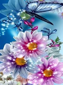 Diamond painting mooie bloemen (50x40cm)(full)