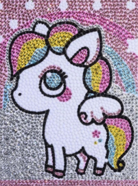 Diamond painting kleur pony (20x15cm)(full)