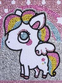 Diamond painting kleur pony (20x15cm)(full)