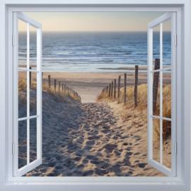 Diamond painting strand uitzicht (50x50cm)