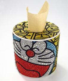 Diamond painting tissue box grappig gezicht (rond)(zelf nog te painten)
