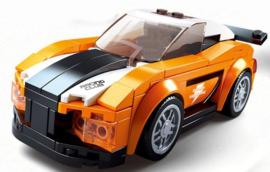 Diamond blocks (grote steentjes) oranje auto (140 blokjes)