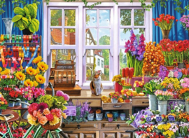 Diamond painting bloemen shop (60x40cm)(full)