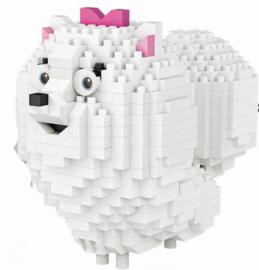 Diamond blocks wit hondje (600 steentjes)