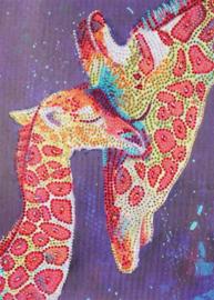 Diamond painting giraf (35x25cm)