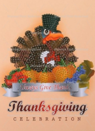 Thankgiving kaart kalkoen (per stuk)