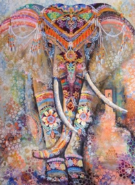 Diamond painting prachtige olifant (60x45cm)(full)