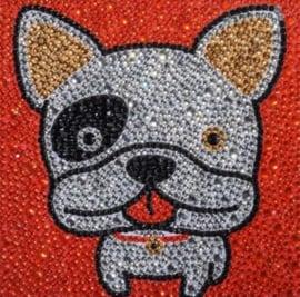 Diamond painting bulldog (15x15cm)(full)