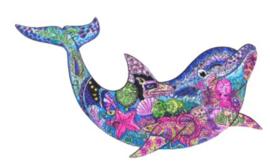 Houten puzzel 3D dolfijn A4