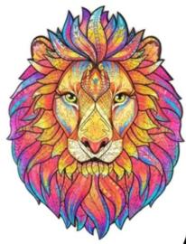 Houten puzzel 3D leeuw A3