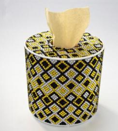 Diamond painting tissue box blokjes (rond)(zelf nog te painten)