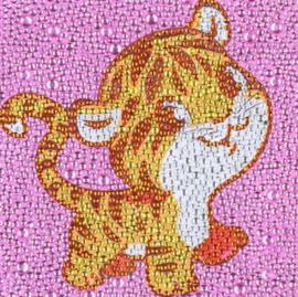 Diamond painting tijgertje (15x15cm)(full)
