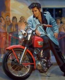 Diamond painting Elvis (60x45cm)(full)