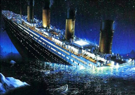 Diamond painting titanic (80x60cm)(full)