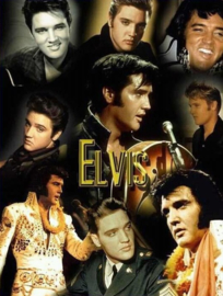 Diamond painting Elvis collage (80x60cm)(full)