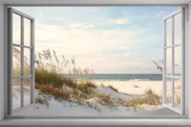 Diamond painting uitzicht strand (65x45cm)(full)