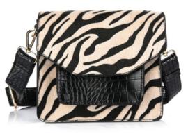 Schouder tas croco zebra