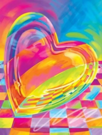 Diamond painting colour heart (50x40cm)(full)