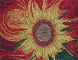 Diamond painting zonnebloem (25x20cm)