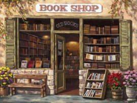 Diamond painting book shop (60x45cm)(full)(ronde steentjes)