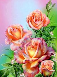 Diamond painting mooie rozen (60x45cm)(full)