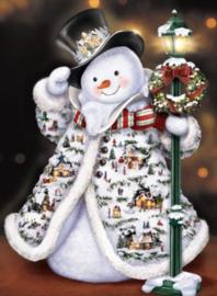 Diamond painting sneeuwpop (60x40cm)(full)(ronde steentjes)