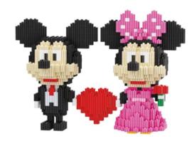 Diamond blocks Mickey & Mini (803 blokjes)