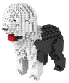 Diamond blocks zwart/wit hond (+/- 900 blokjes)