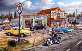 Diamond painting auto garage (60x40cm)(full)