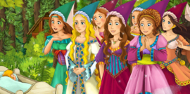 Diamond painting prinsessen (60x30cm)