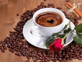 Diamond painting koffie met roos (40x30cm)(full)