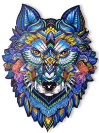 Houten puzzel 3D wolf A5
