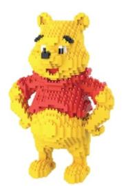 Diamond blocks Winnie the Pooh (1650 blokjes)