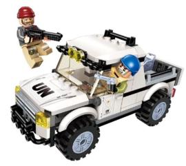 Diamond blocks (grote steentjes) politie wagen (128 blokjes)